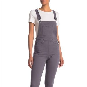 NWT WeWoreWhat High rise grey overall XS